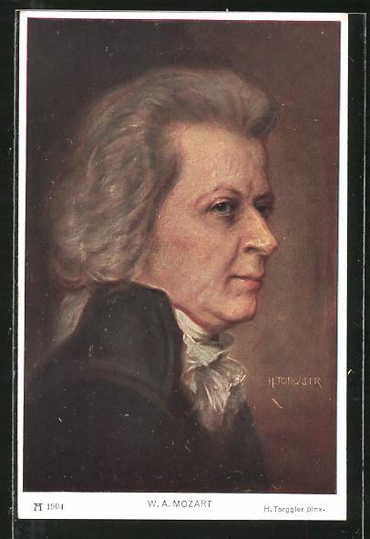 Künstler-AK Hermann Torggler: Wolfgang Amadeus Mozart