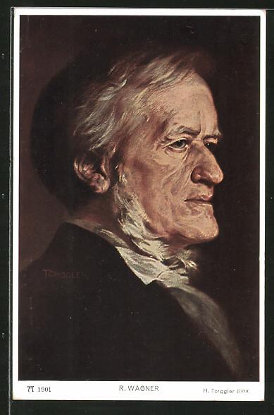 Künstler-AK Hermann Torggler: Porträt des Komponisten Richard Wagner