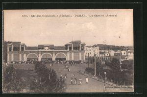 AK Dakar, La gare et l'arsenal, Bahnhof