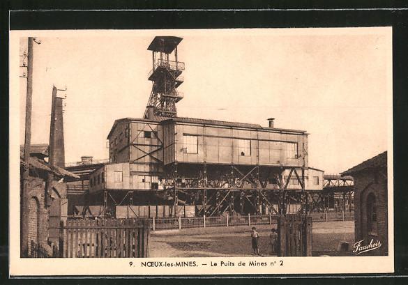 AK Noeux-les-Mines, le Puits de Mines no. 2, Kohle-Grube