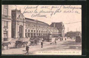 AK Bordeaux, Gare du Midi, Bahnhof