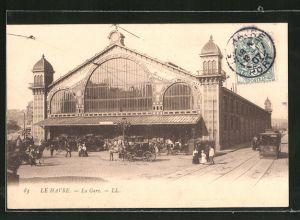 AK Le Havre, la Gare, Bahnhof