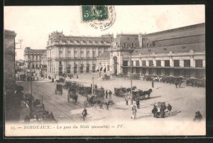 AK Bordeaux, la Gare du Midi, Bahnhof