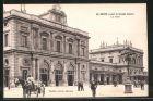 AK Reims, la Gare, Kutsche vor dem Bahnhof