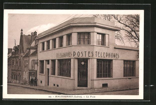 AK Malesherbes, Telegraphes-Postes-Telephones