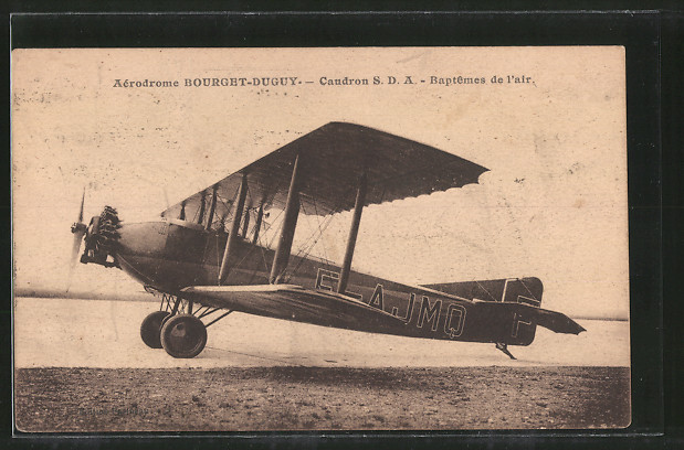 AK Bourget-Duguy, Aérodrome, Caudron S.D.A., Doppeldecker vor dem Erstflug