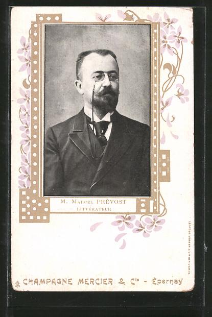 AK Marcel Prévost, Littérateur, Schriftsteller