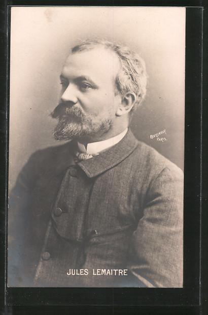 AK Jules Lemaitre, Portrait des Schriftstellers
