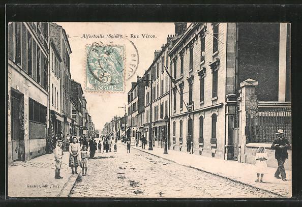 Ak alfortville inondations 1910 la rue veron sauvetage for Garage alfortville rue veron