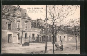 AK St. Maurice, La Mairie et la Grande Rue