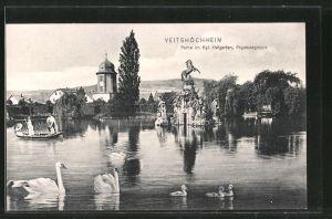 AK Veitshöchheim, Pegasusgruppe im Kgl. Hofgarten