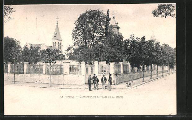 AK Le Perreux, Carrefour de la Place de la Mairie