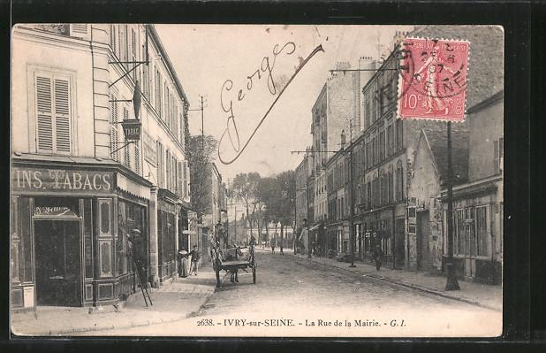 AK Ivry-sur-Seine, La Rue de la Mairie