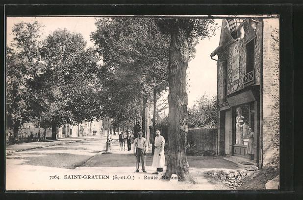 AK Saint-Gratien, Route Nationale, Strassenpartie