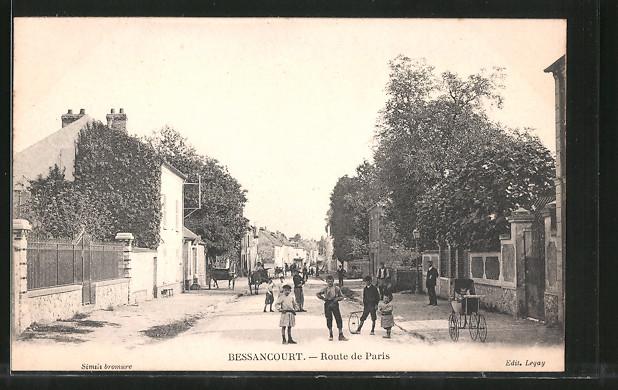 AK Bessancourt, Route de Paris, Strassenpartie