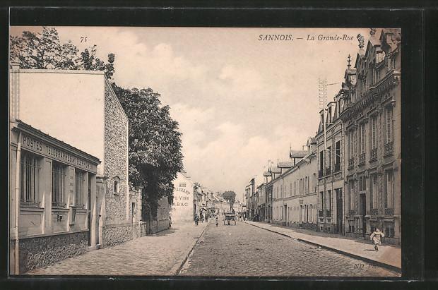AK Sannois, La Grande-Rue, Postes-Telegraphes-Telephones
