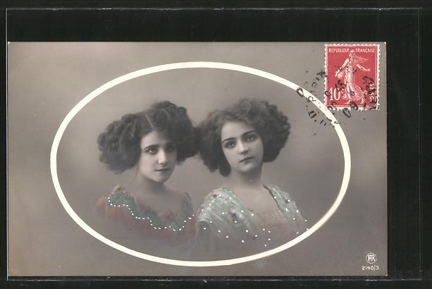 Foto-AK RPH Nr. 2140/3: Mädchen mit modischer Frisur