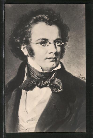 Künstler-AK Porträt von Franz <b>Peter Schubert</b> 0 ... - Kuenstler-AK-Portraet-von-Franz-Peter-Schubert
