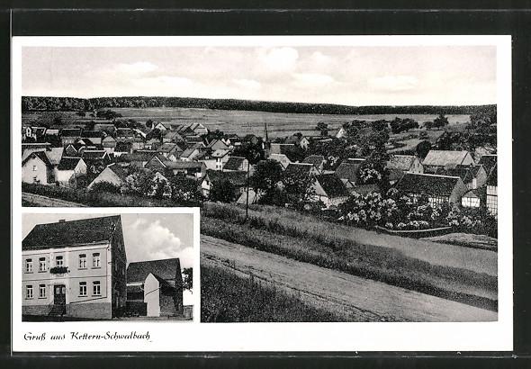 AK Ketternschwalbach, Ortspanorama vom Berg aus gesehen