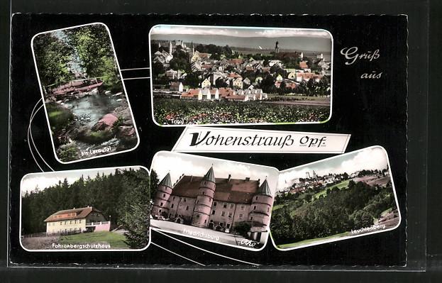 AK Vohenstrauss, Friedrichsburg, Leuchtenberg, Fahrenbergschutzhaus