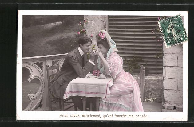 Foto-AK Stebbing: Vous savez, maintenant, qu'est franche ma pensée, Liebespaar