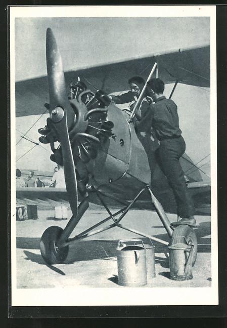AK Doplnovanie pohonnych hmot, Wartung eines Propeller-Flugzeugs