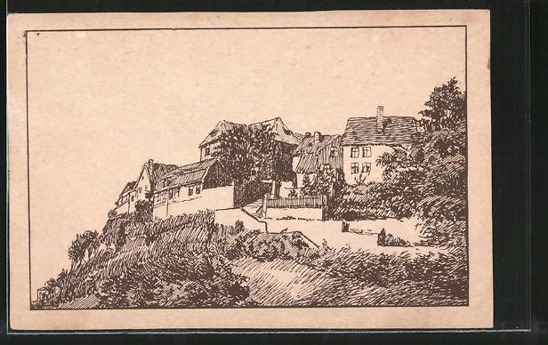 AK Quedlinburg, Blick zum Münzberg