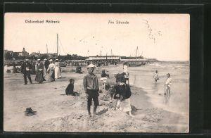 AK Ahlbeck, Partie am Strande