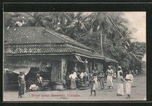 AK Colombo, Street scene Maradana, Strassenszene vor Geschäft