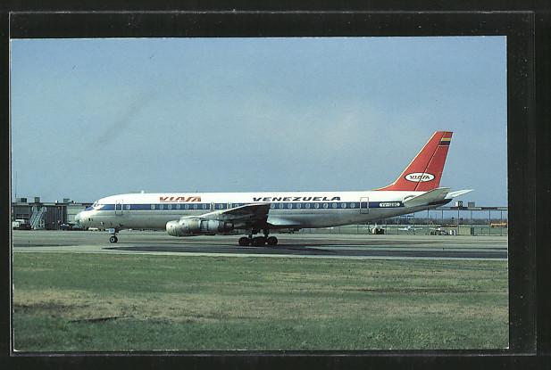 AK Venezolana Internacional de Aviacion SA, DC-8-53 Passagierflugzeug