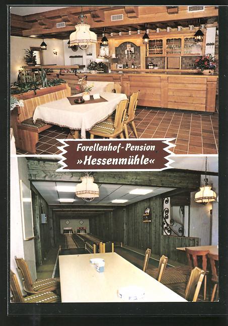 Hessen Mühle ak kleinlüder forellenhof pension hessenmühle nr 7187809