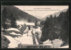 AK Le Lioran, vue prise au-dessus du tunnel de la route