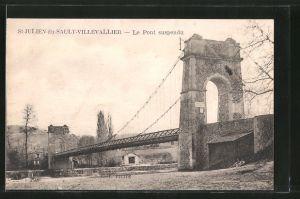 AK Saint-Julien-du-Sault-Villevallier, le pont suspendu