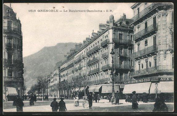 ak grenoble le boulevard gambetta nr 6393041 oldthing ansichtskarten europa belgien. Black Bedroom Furniture Sets. Home Design Ideas