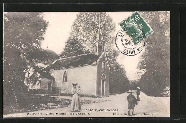 AK Clichy-sous-Bois, église Notre-Dame-des-Anges, la chapelle