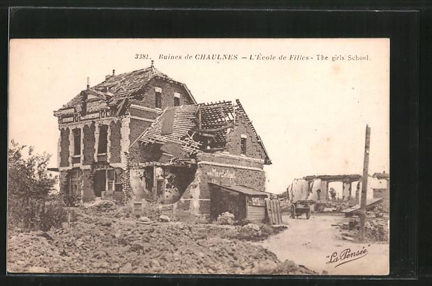 AK Chaulnes, ruines de Chaulnes, l'école de filles