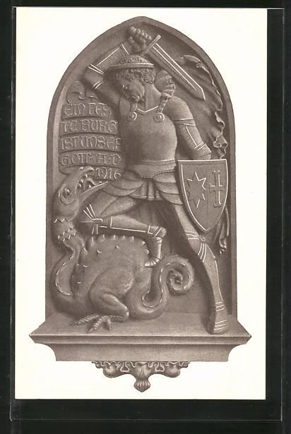 AK Bad Pyrmont, Nagelung einer Kirchentür 1916, Kriegshilfe