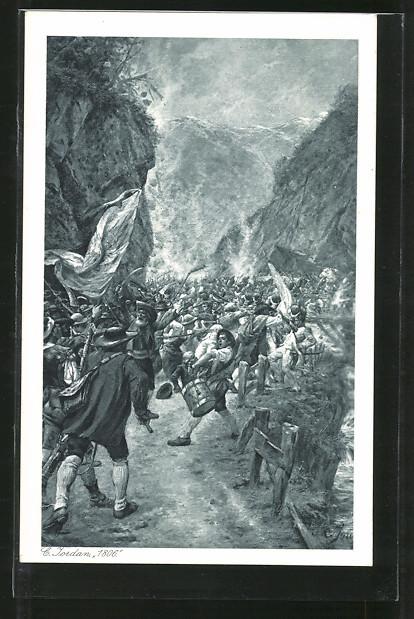 AK 1806, Motiv aus den Befreiungskriegen