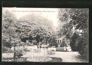 AK Plau, Cafe Logierhaus Klüschenberg