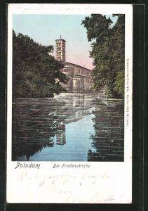 AK Potsdam, Blick zur Friedenskirche