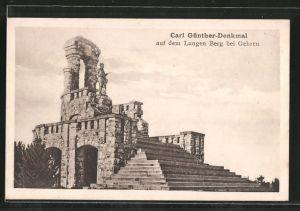 AK Gehren, Carl Günther-Denkmal auf dem Langen Berg