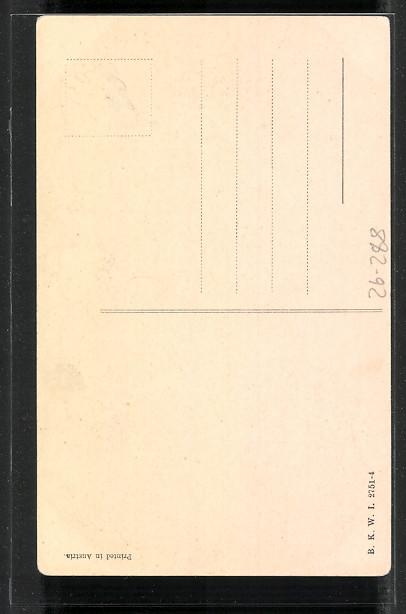 Künstler-AK Brüder Kohn (B.K.W.I) Nr.2751-4: Junge Frau im Winter 1