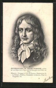 AK Bernardin de Saint-Pierre, Portrait des Autors