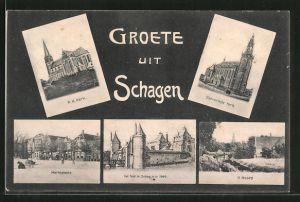AK Schagen, R. K. Kerk, Marktplaats, het Slot