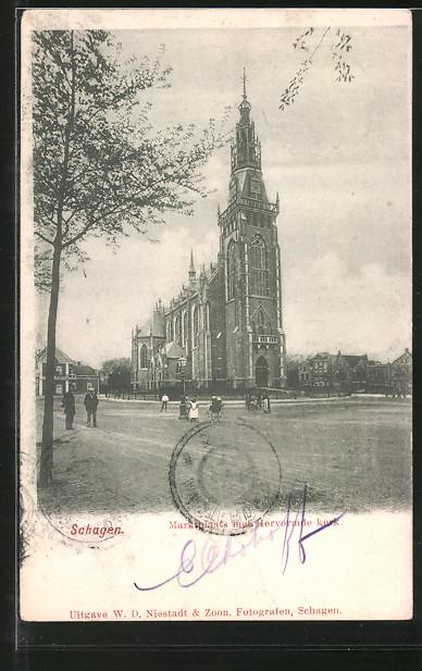 AK Schagen, Marktplaats met Hervormde Kerk