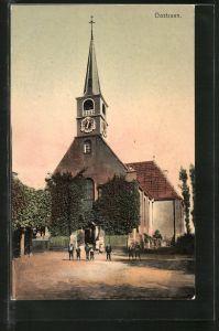 AK Oostzaan, Partie an der Kirche