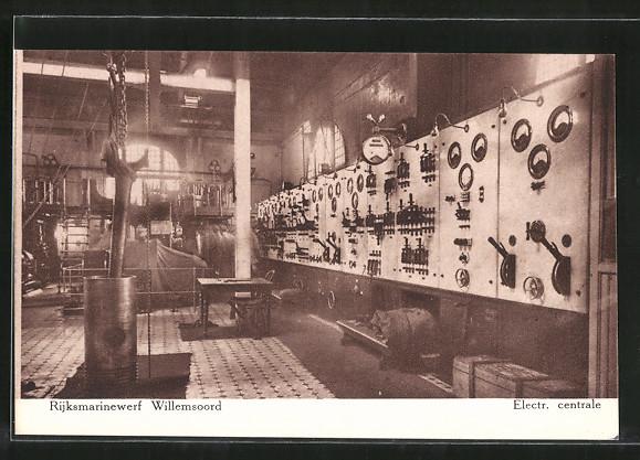 AK Willemsoord, Rijksmarinewerf, Electr. centrale, Innenansicht