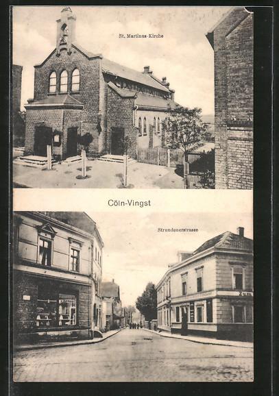 AK Köln-Vingst, St. Martinus Kirche, Strundenerstrasse