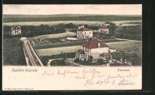AK Aumühle-Hofriede, vereinzelt stehende Häuser