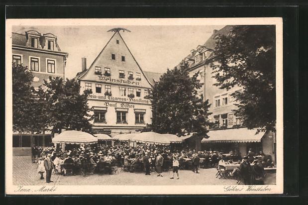 AK Jena, Markt mit Gasthof